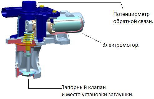 Клапан EGR с электрическим приводом и потенциометром обратной связи